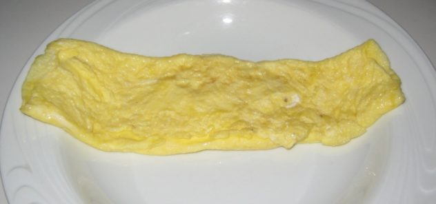 A Picture of A Cheese Omelet