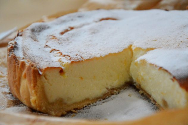 Picture of a Ricotta Cheesecake from Italian Cookbook