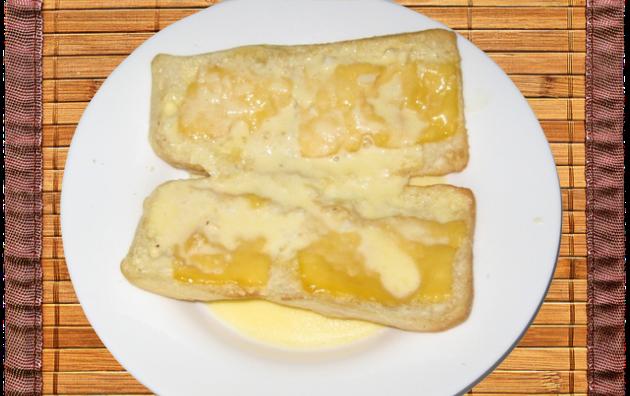 Recipe Photo for Mazzo's Ciabatta Garlic Bread w Melted Cheese & Alfredo Sauce